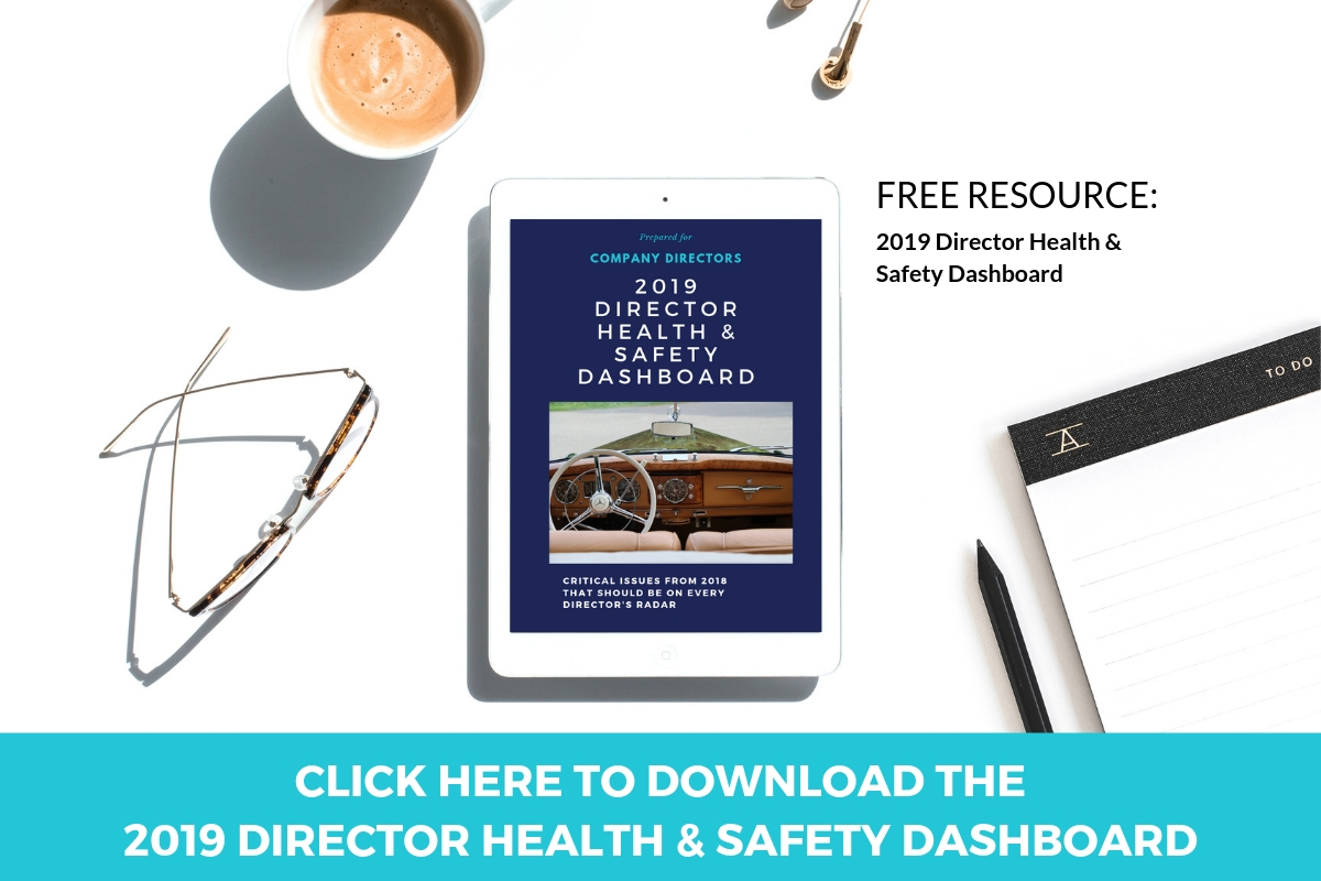 2019 Director Health and Safety Dashboard